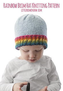 12e8c33e311 Ravelry  Rainbow Brim Hat pattern by Cassandra May