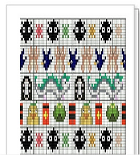 Ravelry Studio Ghibli Spirited Away Fair Isle Chart Pattern By Lula