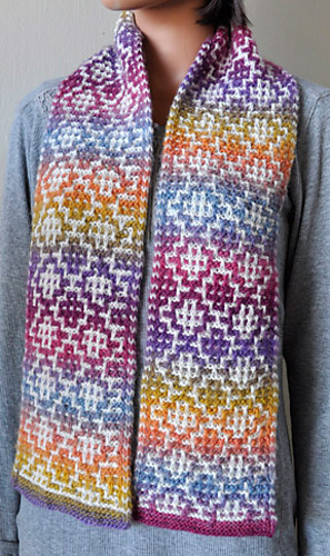 Ravelry Mosaic Tile Scarf Pattern By Gail Tanquary