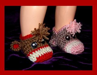 Sock monkey booties pattern free