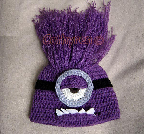 Ravelry Halloween Purple Evil Minion Hat Beanie Pattern By Cathy Ren