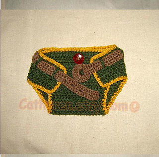 6f84c2760 Baby NinJa Turtle Hat and Diaper Cover Set pattern by Cathy Ren
