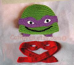 Knitting Pattern For Ninja Turtles Jumper : Ravelry: Baby NinJa Turtle Hat and Diaper Cover Set ...