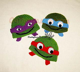 bbb8bf609 NinJa Turtle Hat pattern by Cathy Ren