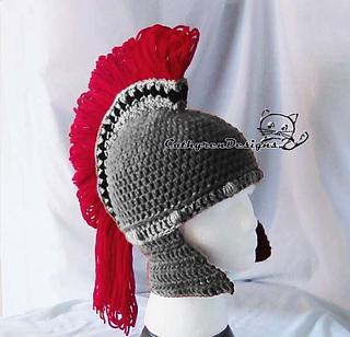 Ravelry  Greek Spartan Helmet pattern by Cathy Ren a19160e4aa01
