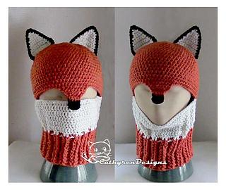 a875e16838c Ravelry  Fox Ski Mask Hat pattern by Cathy Ren