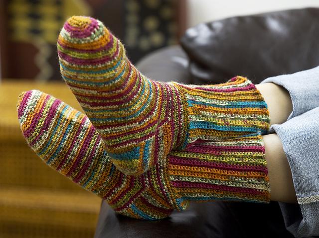 Ravelry Colorful Crochet Socks Wr1783 Pattern By Kathy Wesley