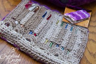 Ravelry cascading crochet hook case pattern by crystalized designs crystal bucholz fandeluxe Gallery