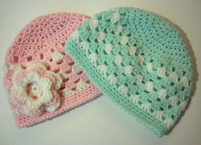 85423b01b Ravelry: Granny Stripe Baby Hat pattern by The Quiet Koala
