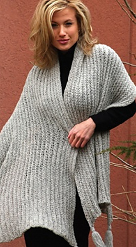 Ravelry Classic Shawl With Tassels Pattern By Authentic