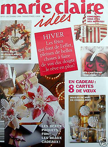 ravelry marie claire id es no 63 hiver 2006 patterns. Black Bedroom Furniture Sets. Home Design Ideas