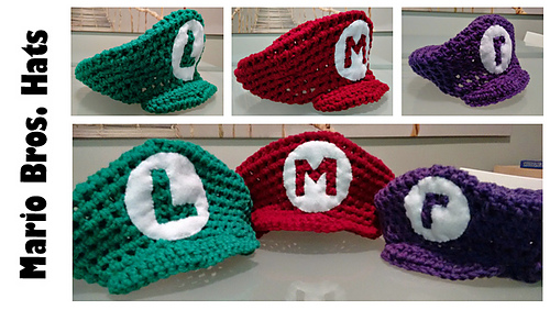 Ravelry Mario Inspired Hat Pattern By C Fin