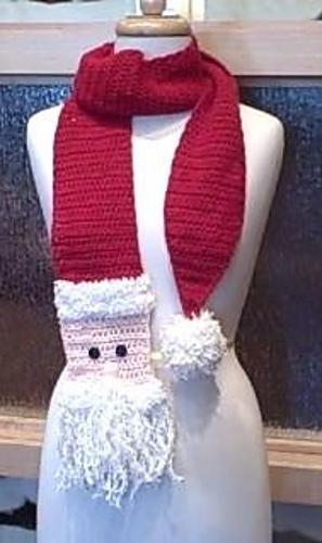 Ravelry Crochet Santa Scarf Pattern By Christy Fisher
