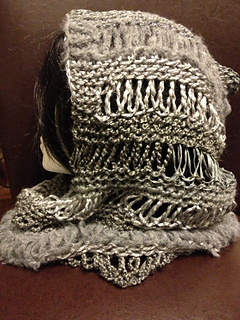 Ravelry Loom Knit Changes Hooded Cowl Pattern By Charity