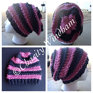 6742fb543 Ravelry: Bulky Striped Slouchy Hat pattern by Charity Windham
