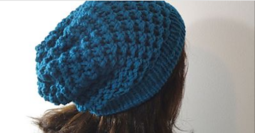 Ravelry: Loom Knit Spiral Slouchy Hat pattern by Tuteate