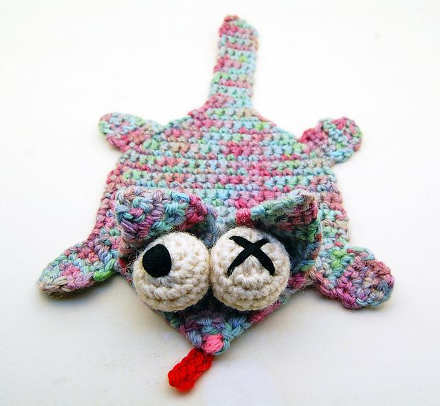 Ravelry Crochet Splat Cat Coaster Pattern By Cheezombie