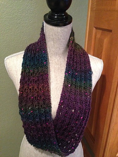 Ravelry Mock Cable Rib Stitch Infinity Scarf Pattern By Louis