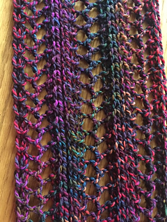 Ravelry Herringbone Lace Infinity Scarf Pattern By Louis Chicquette