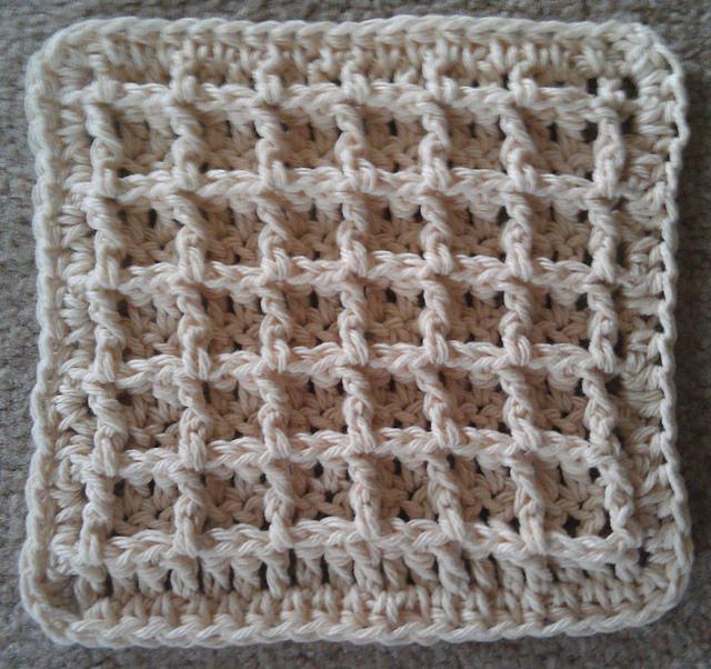 Ravelry Waffle Crochet Dishcloth Pattern By Chip Flory