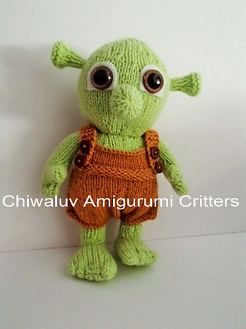 Ravelry  Shrek Toddler pattern by Chiwaluv Amigurumi Critters cf8d9513313
