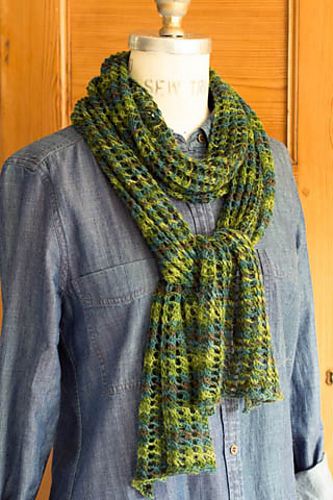 Ravelry Trellis Lace Scarf Pattern By Churchmouse Yarns And Teas