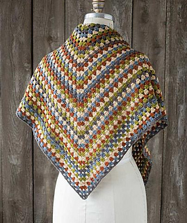 Ravelry Half A Granny Square Shawl Pattern By Churchmouse