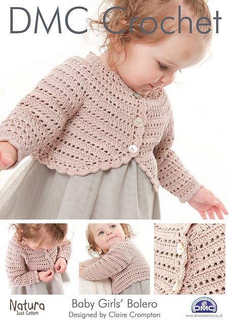 Ravelry Dmc Crochet 14933l2 Baby Girls Bolero Patterns