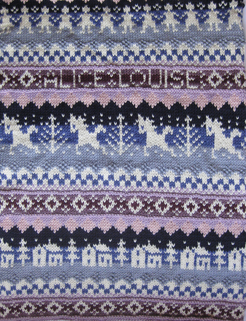 Ravelry: Fair Isle Baby Blanket pattern by Claire Crompton