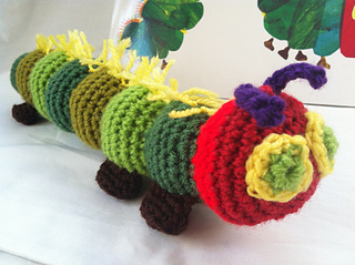 Amigurumi Caterpillar : Ravelry: very hungry caterpillar pattern by gillian dite