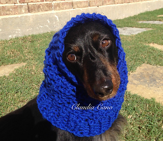Ravelry: Loom Knit Dog Snood pattern by Claudia Cano