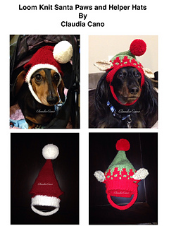Ravelry  Loom Knit Santa Paws and Helper Hats pattern by Claudia Cano b6a395e5b85