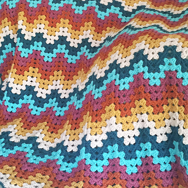 Ravelry Granny Ripple Blanket Pattern By Colour And Cotton