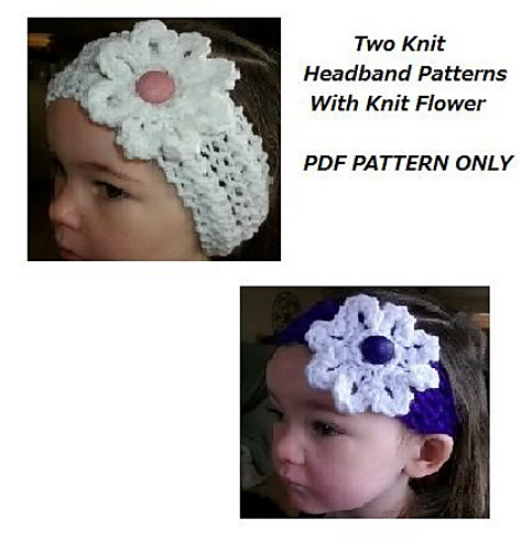 Ravelry Two Easy Knit Headbands With Knit Flower Pattern By Copper