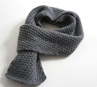 Extra Warm Men's Scarf pattern by Kyoko Nakayoshi
