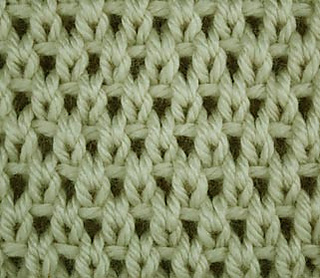 Free Knitting Pattern For Moss Stitch Baby Blanket : Ravelry: Eyelet Moss Stitch pattern by craftcookie