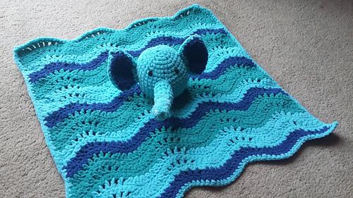 Ravelry Cutie Elephant Blankie Pattern By Michele Wilcox
