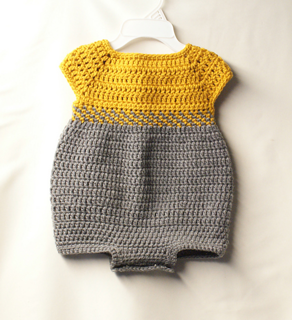 Ravelry Baby Romper Outfit Pattern By Jennifer Lynas