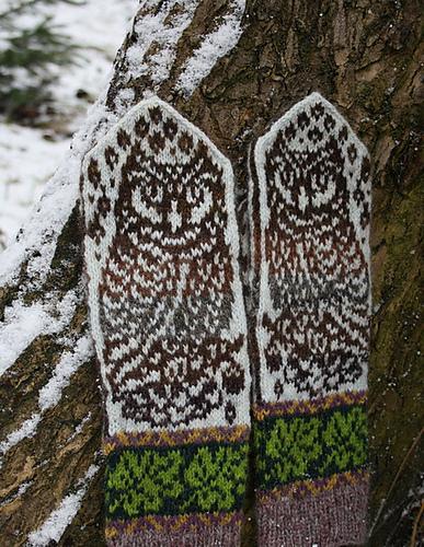 Ravelry Owl In Oaks Mittens Pattern By Natalia Moreva