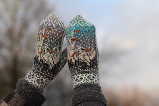 Ravelry Herons In The Snow Pattern By Natalia Moreva