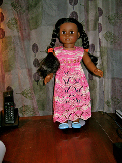 a97c55d02 Ravelry  American Girl Doll Empire Waist Lace Dress pattern by ...