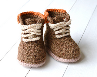 61aa150feb867 Baby Booties Timberland Style pattern by Caroline Brooke