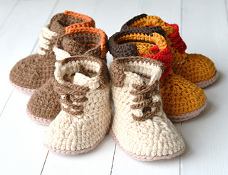 Ravelry: Baby Booties Timberland Style pattern by Caroline ...