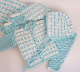 Ravelry 5pc Newborn Baby Set Pattern By Crochet Atelier