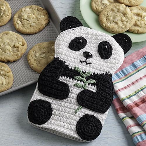 Ravelry Pretty Panda Oven Mitt Pattern By Susan Lowman