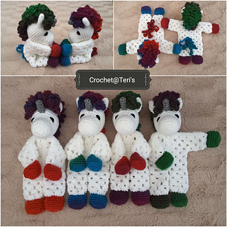 Ravelry: Unicorn Granny Hexagon Lovey pattern by Crochet at
