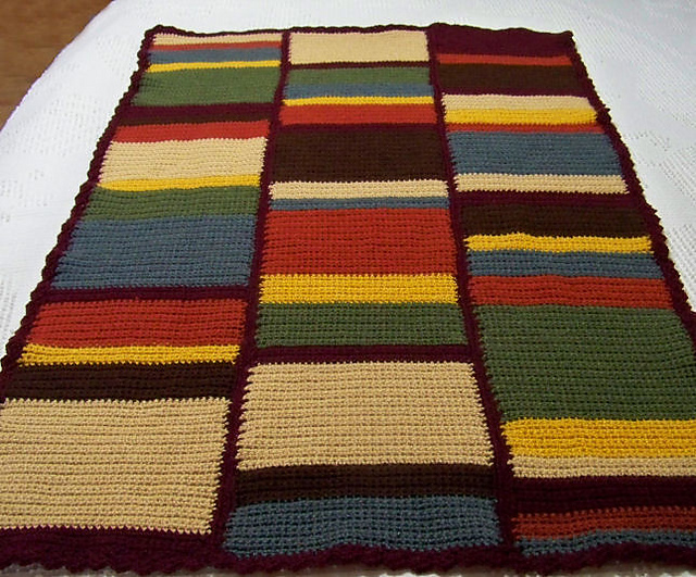 Ravelry Doctor Who Scarf Baby Afghan Pattern By Sandra Petit