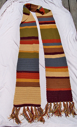 Ravelry Doctor Who S12 Or 14 Dc Dk Scarf Pattern By Sandra Petit