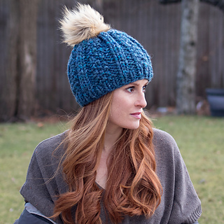 a018d72a2 Ravelry: Wide Rib Hat pattern by Gina Michele