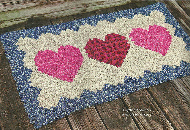 Ravelry: Wiggly Hearts Rug pattern by Susan Lowman